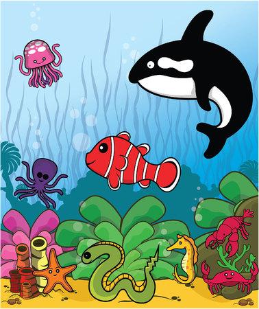fish collect Illustration