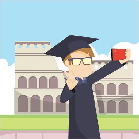 scholar: scholar selfie in rome