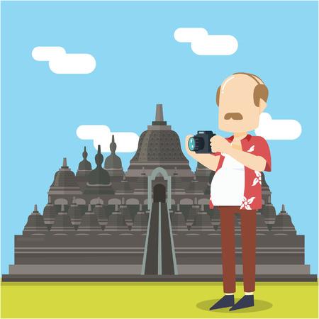 tourist visit candi borobudur