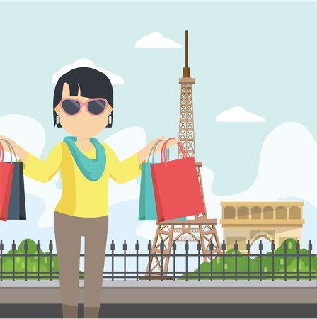 socializando: Mujer socialita en París