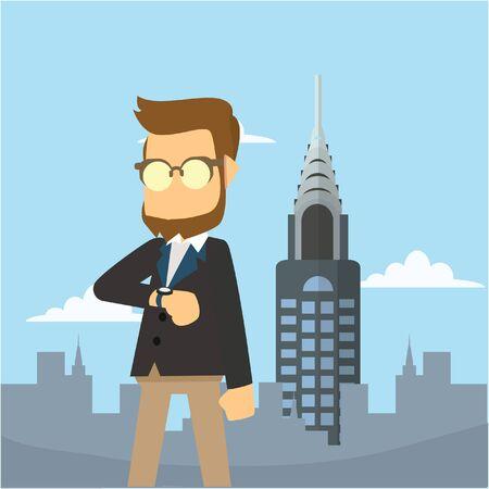 newyork: businessman in newyork Illustration