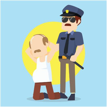 criminal: officer caught criminal