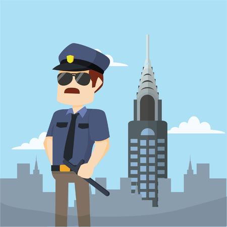 newyork: officer in newyork Illustration