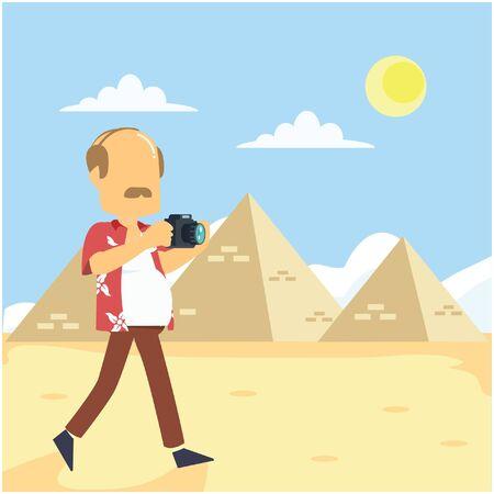 visit: visit pyramid Illustration