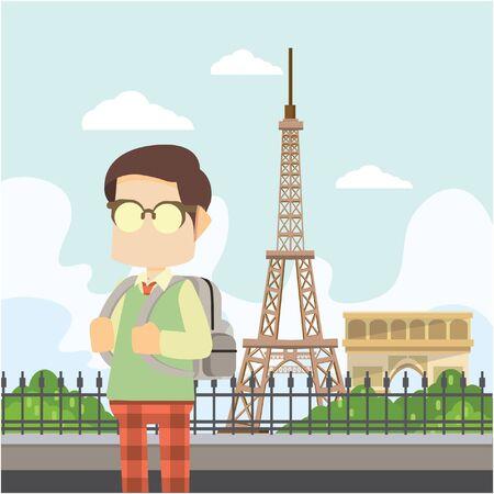 schoolboy: schoolboy in paris