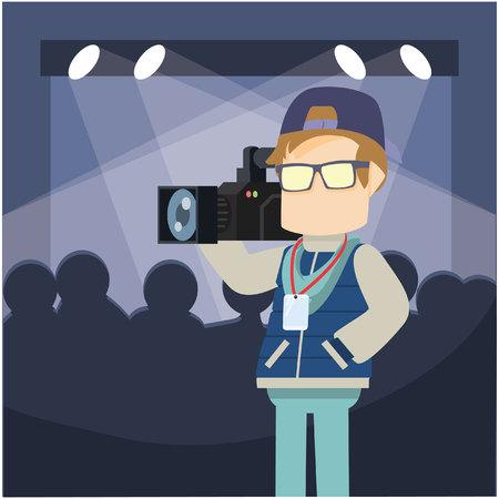cinematographer: camera man illustration design