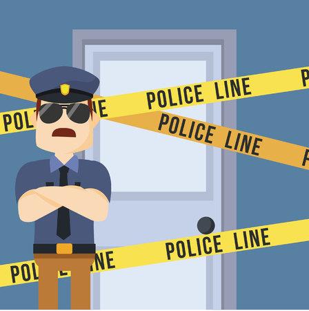 politie bewaken delict