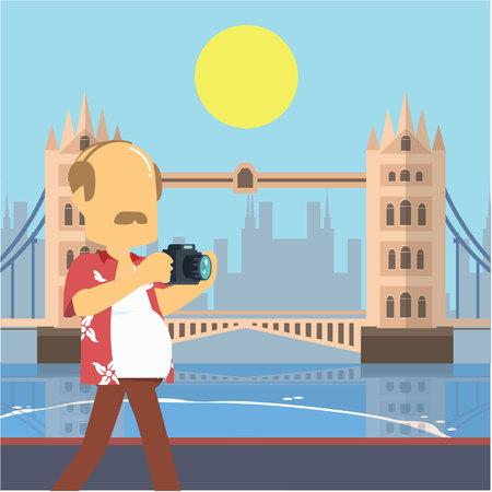 drawbridge: guy tour walking tower bridge london