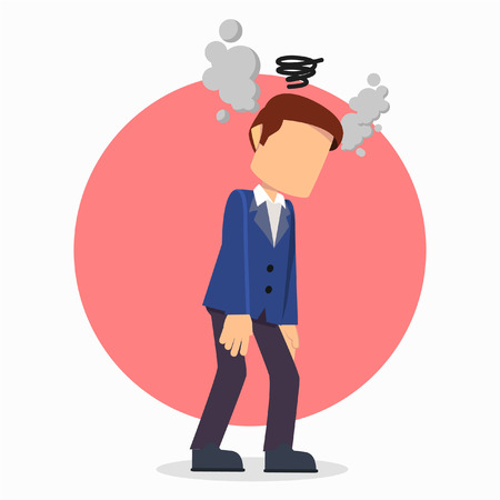 businessman head in smoke