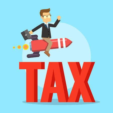 avoid: business man avoiding tax