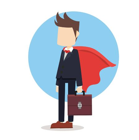 business man with cloak Illustration
