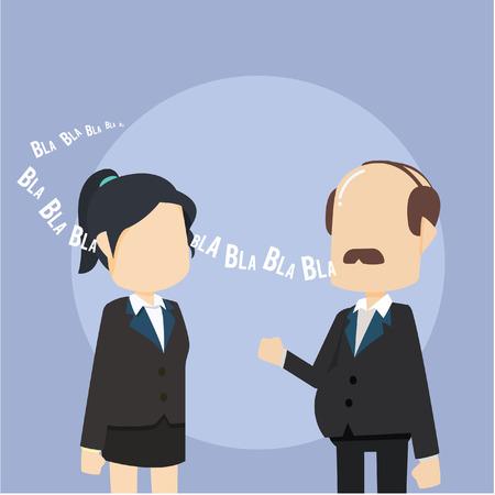 talking: boss talking to employee Illustration