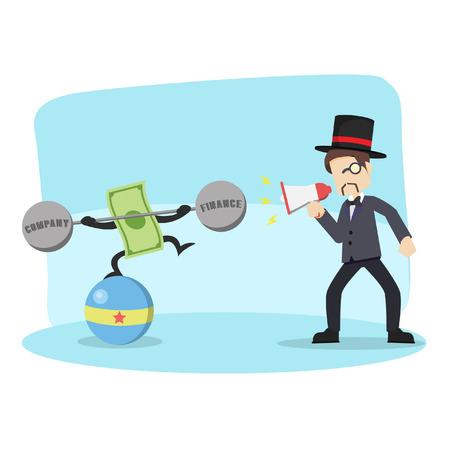 rich man taming money