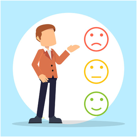 rating: businessman with rating point Illustration