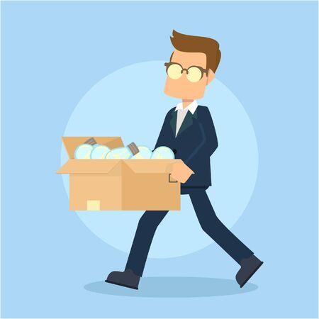 throwing: businessman throwing unused idea