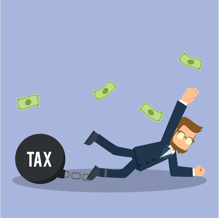 businessman chained tax
