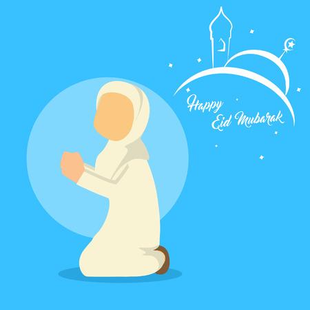moslimvrouw bidden