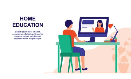 Teachers Shifting To Teaching Online. Homeschooling And E-learning Online Education Concept.