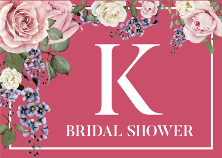 Plate Coaster Initial K for Bridal Shower Table Decor