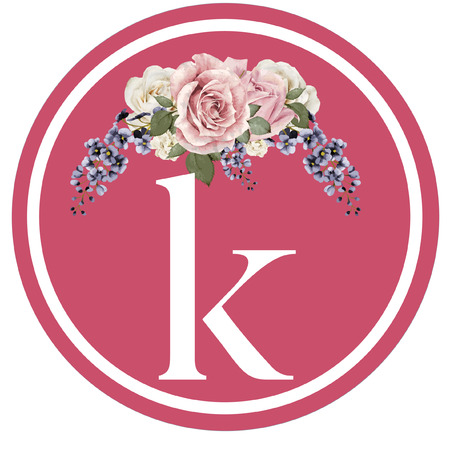 Glass Coaster k Initial Color