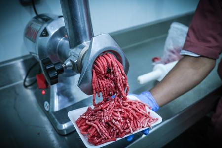Fresh Raw Beef (Sliced, Grind, Sausage) Stock Photo