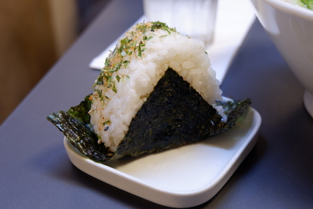 Stock Photo: One Big Piece of Seaweed Onigiri Reklamní fotografie