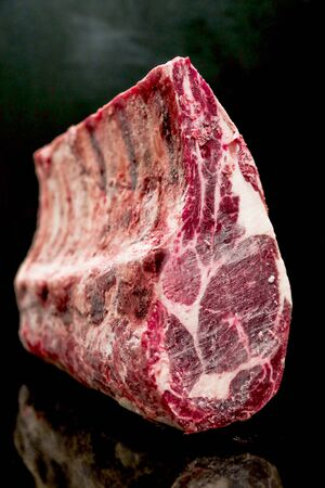 Raw Cut Beef at the Butchery Stok Fotoğraf - 131208831