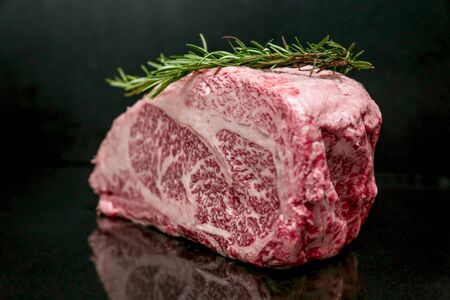 Raw Cut Beef at the Butchery Stock Photo - 133796209
