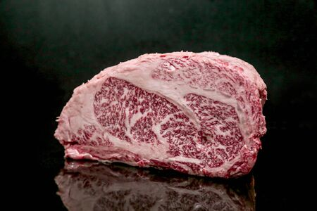 A Photograph of Fresh Raw Beef Steak Imagens