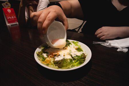 Stock Photo - Caesar Salad with Egg