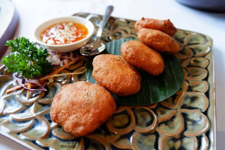 Stock Photo -  Fried Sweet Shrimps Dumpling