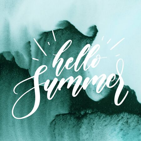 Stock Image - Typography Quotes Poster, Hello Summer