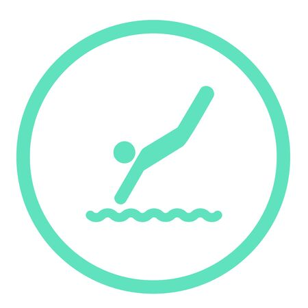 diving flat icon