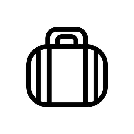 Black Outline Luggage Flat Icon