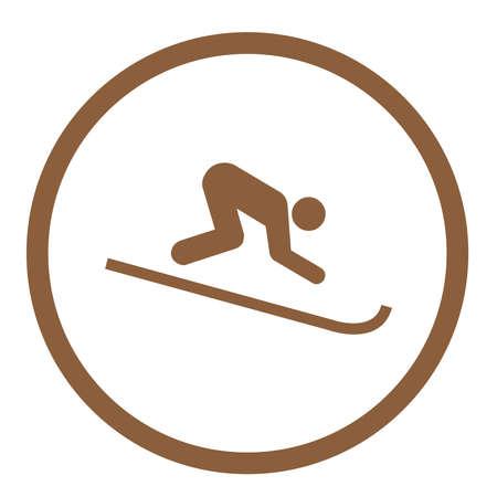 Ski Flat Icon Ilustrace