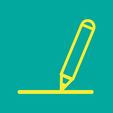 Stationary Flat Icon (scissor, eraser, brush, pen, pencil, cutter, ruller)