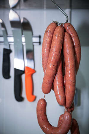 Stock Photo of Fresh Beef Sausage