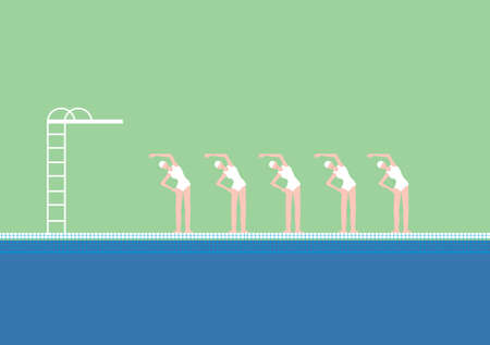 Stock Illustration of Swimming Pool with Swimmers