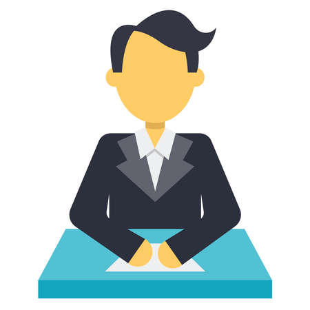 Stock Vector- Business Life Icon