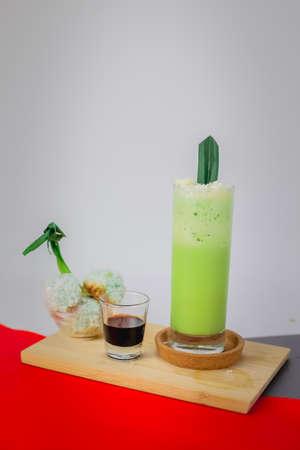 Stock Photo of Pandan Flavor Drink.