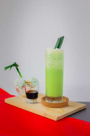 Stock Photo of Pandan Flavor Drink.