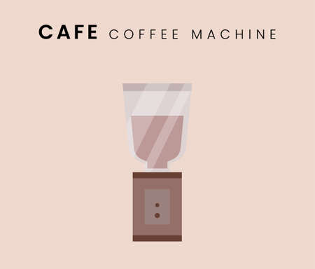 Coffee Machine. Flat style icon design. Vector illustration.