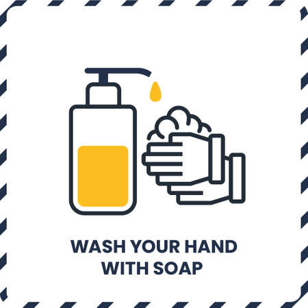 Wash Hand with Soap and Sanitizer, Safety Protocol for virus