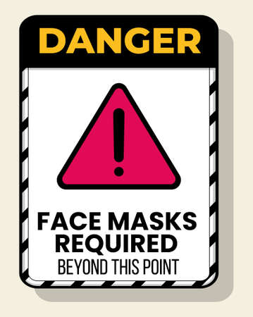 safety wear mask symbol, vector illustration, Please wear mask in this area notice