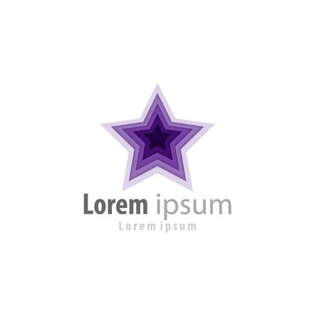 Illustration vector graphic star with a gradation in purple