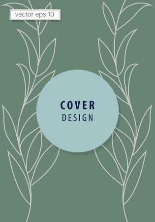 vector graphic social media stories and posts. Background template with copy space for text and image designs with abstract colored shapes, line art, warm colorful tropical leaves.