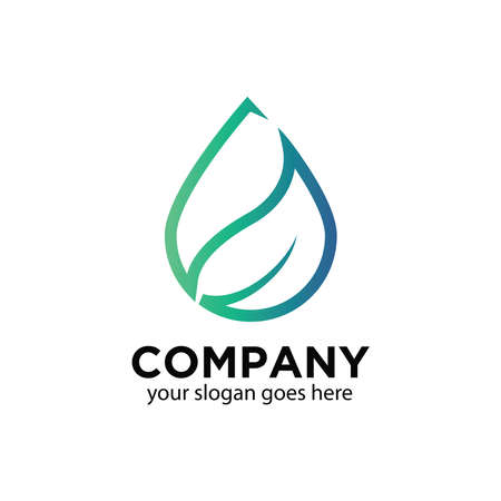 Vector graphic of water drop logo linear style  イラスト・ベクター素材