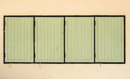 old windows: Old windows in the primary school, Thailand.
