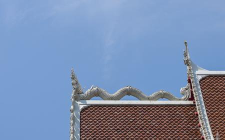 pinnacle: The pinnacle of the Buddhist church, Bangkok Thailand. Stock Photo