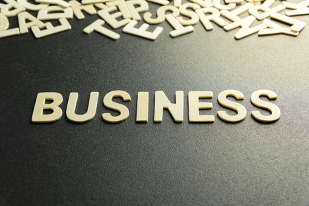 BUSINESS word made with wooden letter